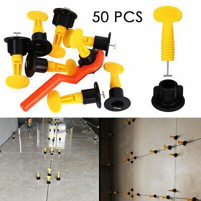 50set Bag Ceramic Leveler Tools T Leveling Spacer System Kits For Tiles Plastic