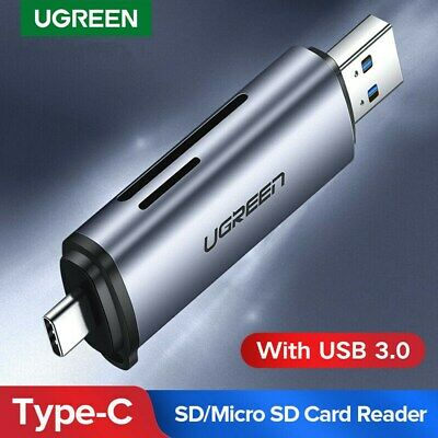 Ugreen SD Card Reader USB Type C USB 3.0 OTG Memory Card Adapter for TF,SD UHS-I