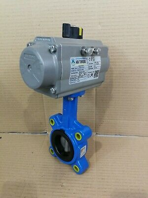 Air Torque AL-79,201U-S12 A Pneumatic Air Actuated Wafer Butterfly Valve DN50