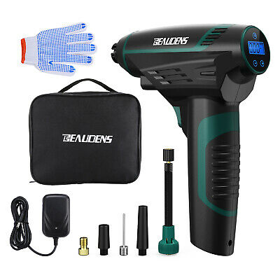 BEAUDENS Tyre Inflator Cordless 12V Air Compressor Electric Car TIre Pump NEW