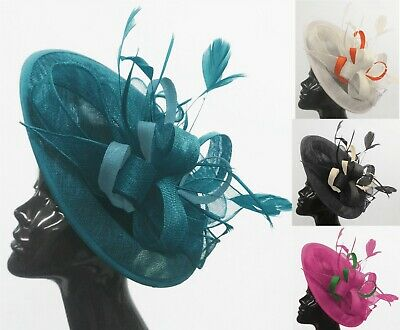 Caprilite Big Saucer Sinamay On Headband Fascinator Wedding Ladies Ascot Hat