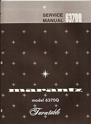 Marantz 6370Q Original Service Manual. Money Back Guaranty