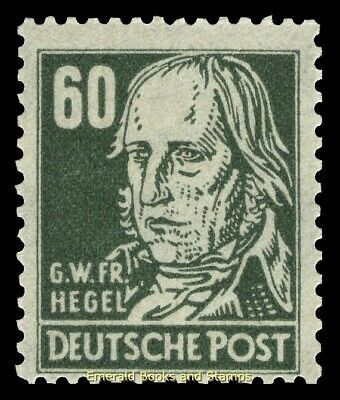 EBS Germany 1948 SBZ Famous People Köpfe - G.W.F. Hegel - Michel 225 MNH**