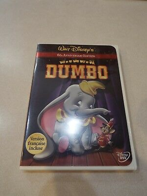Disney Dumbo 60th Anniversary Edition DVD  EUC