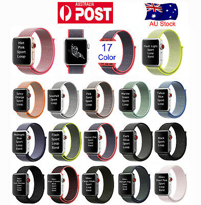 Sports Loop Band Nylon Strap For Apple Watch iWatch 38 42mm Series 1 2 3 AU Post