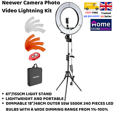 Neewer 18-Inch Outer LED Ring Light Stand & Accessories Photography Lighting New