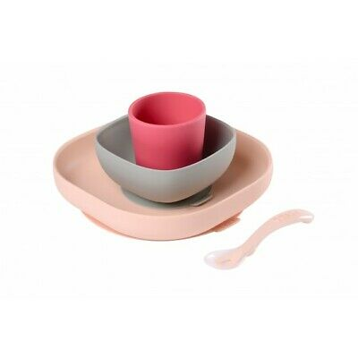 Beaba Silicone Meal Set (4 pcs) - Pink