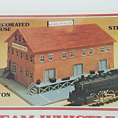 BACHMANN 56-1209 STEAM Whistle Decorated Freight Warehouse N Scale
