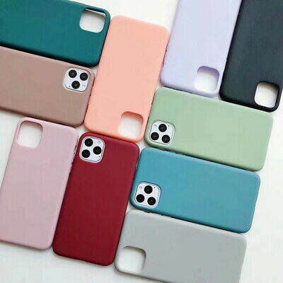For Apple iPhone XS Max XR 8 6 7 Solid Candy Color Case Slim Soft Silicone Cover