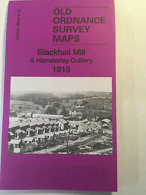 Old Ordnance Survey Map Of Blackhall Mill & Hamsterley Colliery 1915