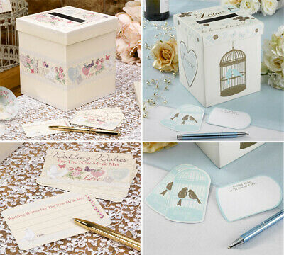 Wedding Wishes Post Box & Cards - A Guest Book Alternative - 2 Designs available