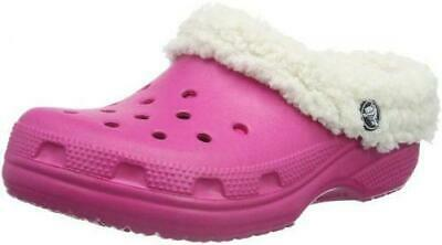f1ca2acba36940 crocs Unisex's Classic Mammoth Lined Mule, Candy Pink/Oatmeal, 13 US Men's /
