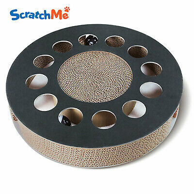 ScratchMe Cat Scratch board with Black bell ball Kitten Scratching Play Toy