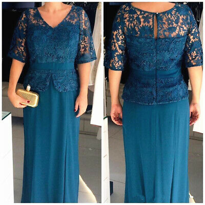 Women Tea Length Mother of The Bride Dresses Two Pieces with Jacket Party Dress