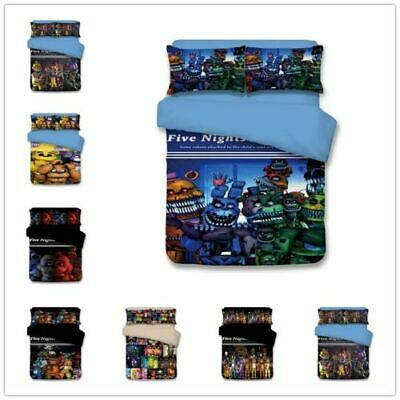 3D Game Theme Five Nights At Freddy/'s Bedding Sets Of Duvet Cover /& Pillowcase