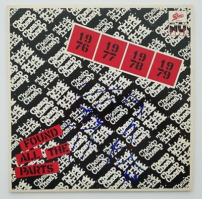 """Cheap Trick Signed Found All The Parts 10"""" Vinyl 45 Record Punk Rock Legends RAD"""