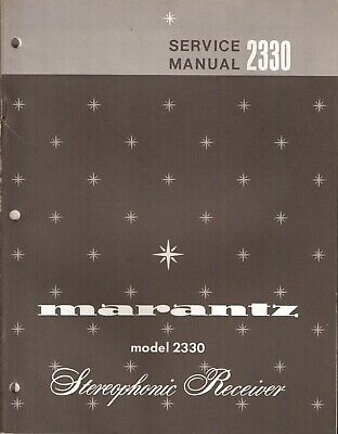 Marantz 2330 Original Service Manual. Money Back Guaranty