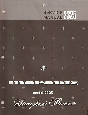 Marantz 2325 Original Service Manual. Money Back Guaranty