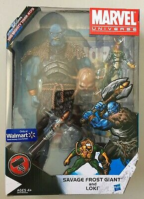 "Marvel Universe 3 3/4"" SAVAGE FROST GIANT & LOKI Walmart Exclusive Action Figure"