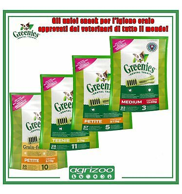 GREENIES Snack Igiene Orale Cane Cani Grain Free Dentastix Medium Small 56 112