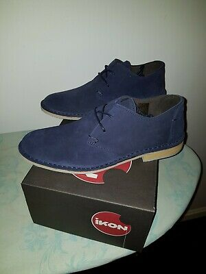 e969d0f0f7a0 Ikon FRANKLIN Mens Smart Casual Suede Leather Lace Up Shoes uk 11 eu 45 Navy