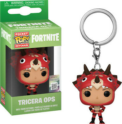 Fortnite S2 - Tricera Ops - Funko Pop! Keychain: (2019, Toy NUEVO)