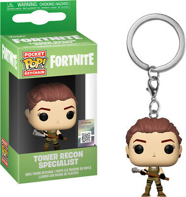Fortnite S1a -Tower Recon Specialist - Funko Pop! Keychain: (2019, Toy NUEVO)