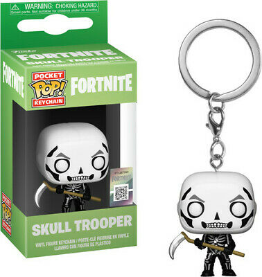 Fortnite S1a - Skull Trooper - Funko Pop! Keychain: (2019, Toy NUEVO)