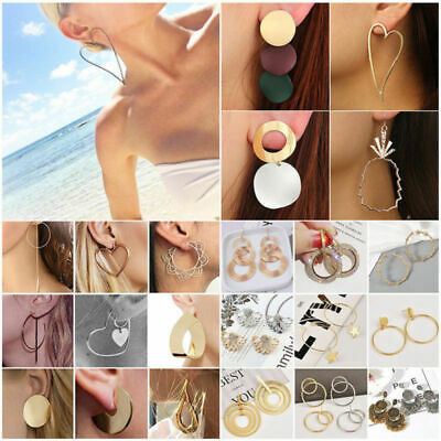 Boho Fashion Women Statement Gold Plated Alloy Geometric Big Dangle Drop Earring