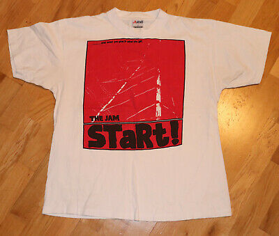 *1980's THE JAM* vintage rare concert tour t-shirt (L) Mod Punk Rock Paul Weller