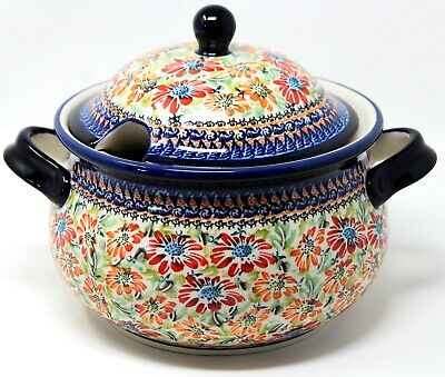 Polish Pottery Soup Tureen 13.4 cups from Zaklady Boleslawiec 1004/134ar