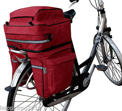 LARGE Bicycle Double Side Panniers Rear Rack Tail Seat Trunk Bag 45L