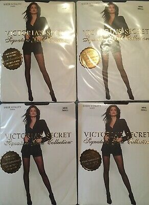 5c31677ab5 4 Pairs Victorias Secret Signature Gold Sheer Vitality Shaper Mink Small