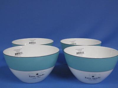 4 NWT Lenox Kate Spade New York Rutherford Circle Turquoise All Purpose Bowl