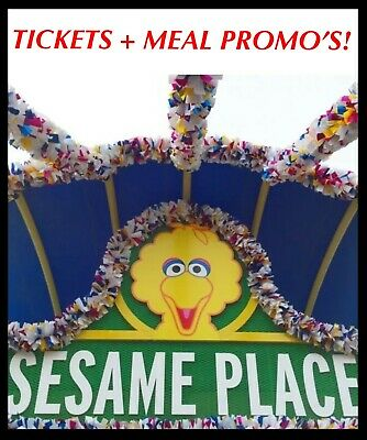 Sesame Place Tickets $36 Savings A Promo Tool Discount + Meal Deal Option!!