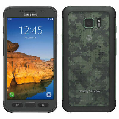 Samsung Galaxy S7 Active 32GB G891A - Camo Green GSM UNLOCKED AT&T T-MOBILE