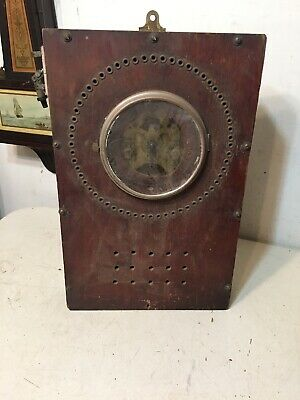Antique Time Clock Seth Thomas Movement With Alarm Bell Zig Zag  Naval Course