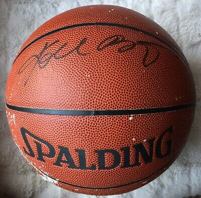 2f4ebe84ad317 LEBRON JAMES SIGNED Spalding Autographed NBA Basketball Certified ...