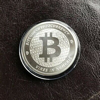 Bitcoin Crypto 1 Oz .999 Silver Round - Golden State Mint