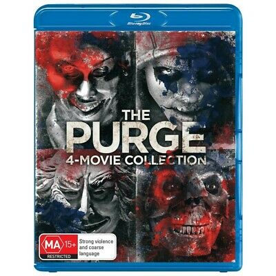 The Purge - 4 Movie Collection (Blu-ray, 2018) Region B ***BRAND NEW & SEALED***