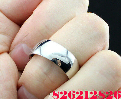 50pcs Silver Wedding Rings 8MM Stainless Steel Rings for men and women job lots