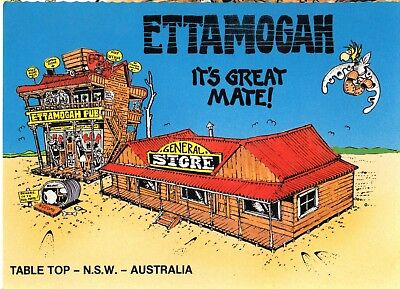 Scancolor - Postcard Australia - ETTAMOGAH - It's Great Mate, Table Top NSW