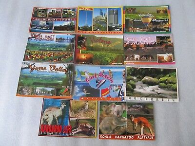 Bulk lot 11 Melbourne, Yarra Valley & Australia Postcards - Sydney Hughes unused