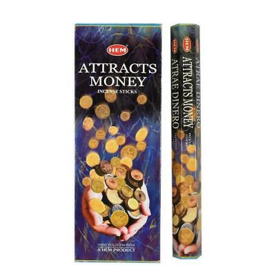 Attracts Money Jumbo Garden Incense Sticks - HEM - Bulk Box Of 6 Packets