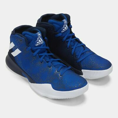 promo code 2fcca f008d Adidas Mens Crazy Heat Blue White Basketball Shoes Trainers Size UK 9 UK 9.5
