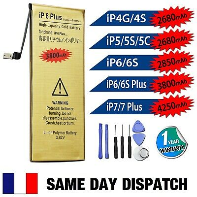iPhone 4S 5 5C 5S 6 6S 7 PLUS High Capacity Battery Replacement Tools Sticker