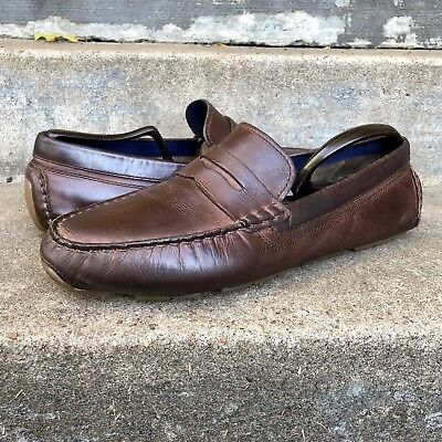f8e77c6efcd Cole Haan Mens Kelson Penny Loafers British Brown driving shoes size 10 M