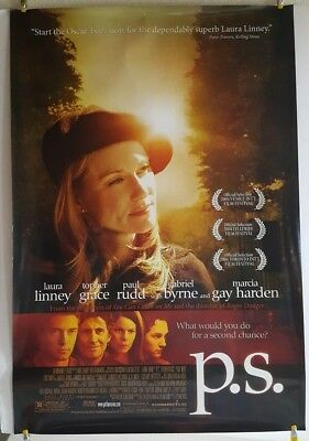 "P.S Original 2004 DS Movie Poster 27"" x 40"" Laura Linney Topher Grace Paul Rudd"