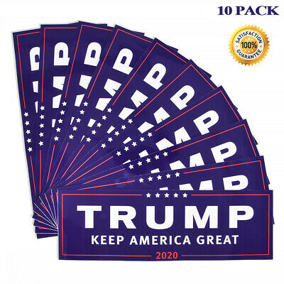 10X Donald Trump for President KEEP America Great Again 2020Bumper Stickers NEW#