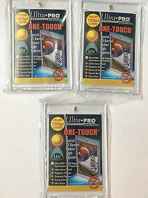 (3) Ultra pro 100pt UV One Touch Magnético para Grueso Tarjetas o Relic Cromos